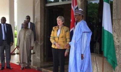 Theresa May arrives Nigeria