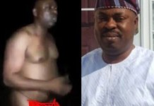 Osun state House of Assembly Majority Leader, Timothy Owoeye allegedly caught bathing in the market