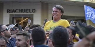 dramatic moment Brazil presidential frontrunner Jair Bolsonaro got stabbed at his campaign rally