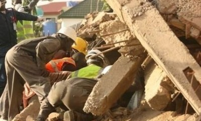 Catholic Church collapses on worshipers during morning mass in Delta State