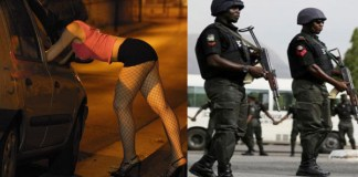 Nigerian lady accused of being a prostitute, after being arrested by Lagos Police