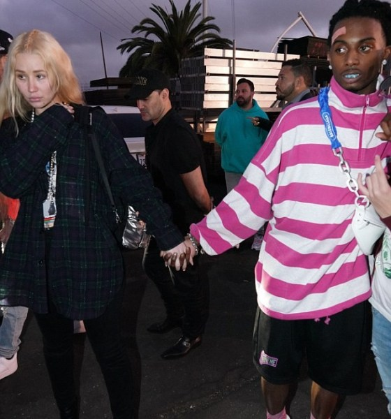 Iggy Azalea,28, holds hands with new 'boyfriend' Playboi Carti, 22, at Rolling Loud Festival in Los Angeles