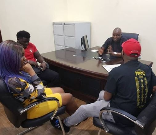 Davido and Chioma visit super cop, Abba Kyari