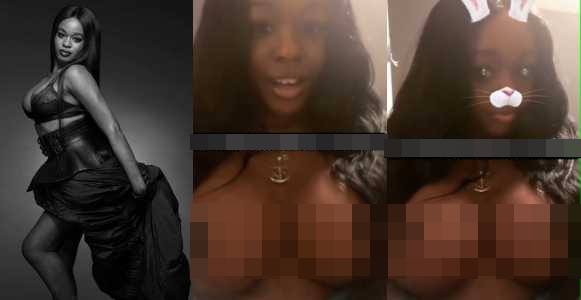 Azealia Banks' nudes leaks online as she shows off her new giant breast implants +18
