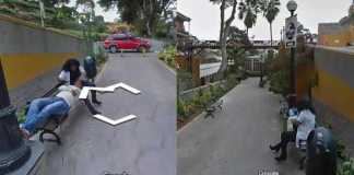 Peruvian man using Google Street View to get direction, catches his wife cheating (Photos)