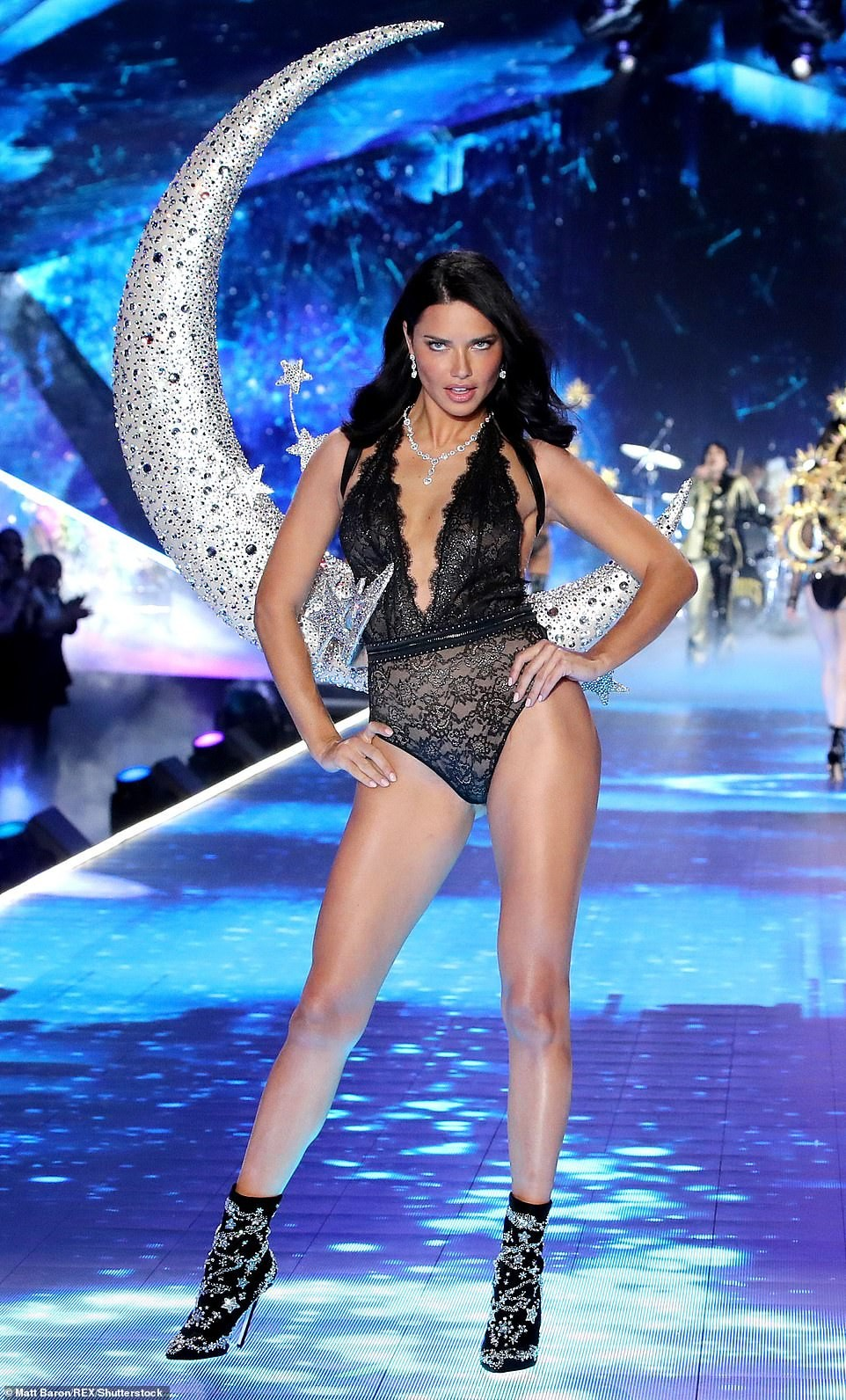 Adriana Lima breaks down in tears on the runway as she retires from Victoria's Secret fashion show after 20-years (Photos)