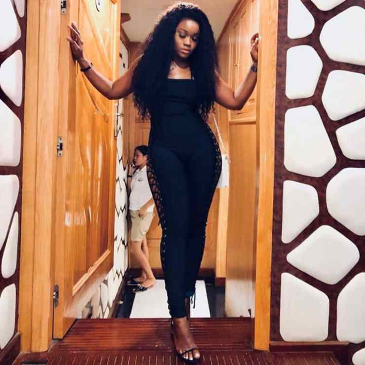 Cee C shows sexy curves in Dubai