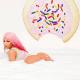 Nicki Minaj flaunts her curvy backside in a bubble bath to promote her latest single
