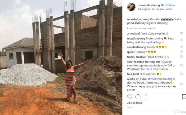 Moesha Buduong accused of sleeping with married men after showing off new house