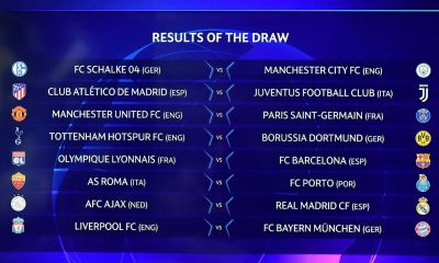 Champions League round of 16 draw released