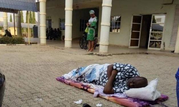 Dino Melaye sleeps outside DSS hospital in protest