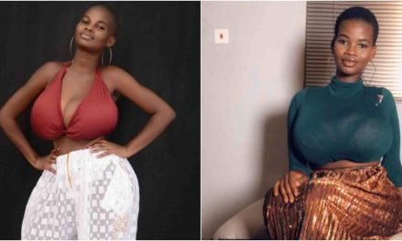 Ghanaian model, Pamela Watara reported to posses the biggest breasts