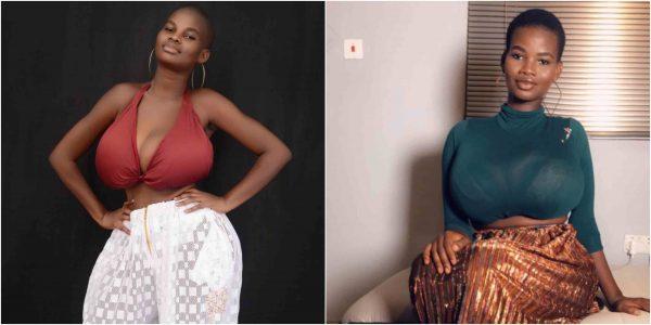 Ghanaian model, Pamela Watara reported to posses the biggest breasts
