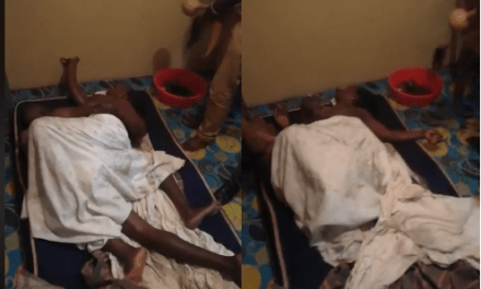 Kenyan woman cries out in pain as she gets stuck with her lover during s€x (Video)