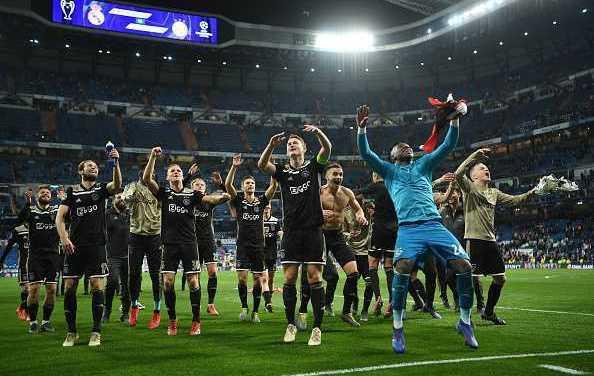 Champions League: Ajax dump Real Madrid out, Tottenham qualify for quarter-finals