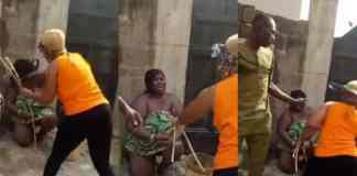 Nigerian woman flogs lady who slept with her husband