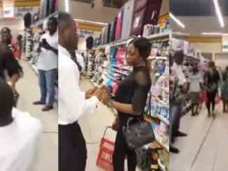Nigerian girl walks out on her boyfriend after he surprised her with a proposal