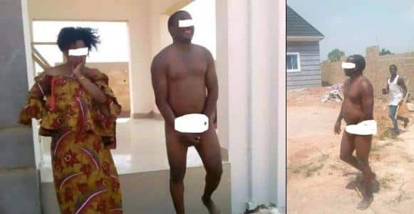 Man caught having sex with a married woman in an uncompleted building (Photos)