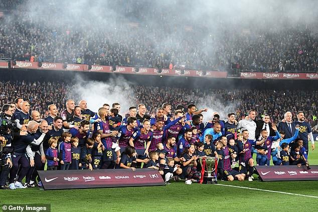Barcelona crowned La Liga champions (Photos)
