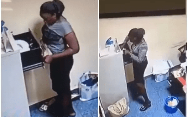 CCTV exposes Yabatech student who stole N500K from boss (Video)