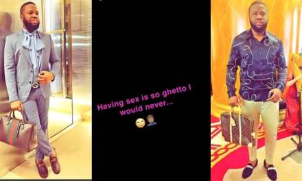 Sex is a ghetto act, says Hushpuppi