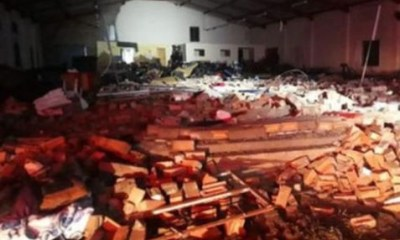 wall collapsed in South Africa at the start of an Easter service at a Pentecostal church