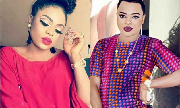 Bobrisky reveals some massive cleavage