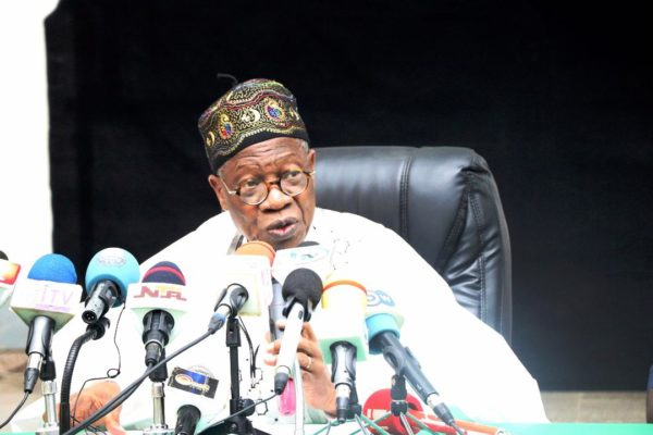 Group urges Buhari re-appoint Lai Mohammmed