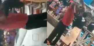 Shocking as lady heals crippled man on the road in Akure (Video)