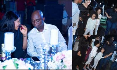 Regina Daniels pictured with Ned Nwoko's Children (Photos)