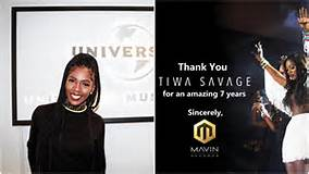 Tiwa Savage officially exit from Mavin Records