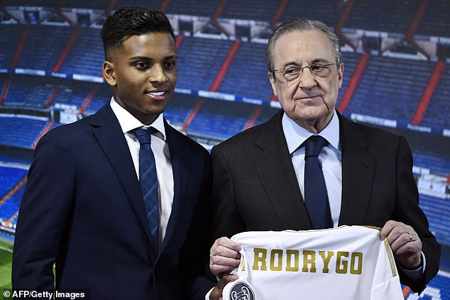 Real Madrid unveils Rodrygo