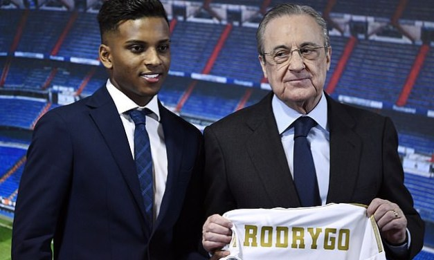 Real Madrid unveils Rodrygo following £40m switch from Santos