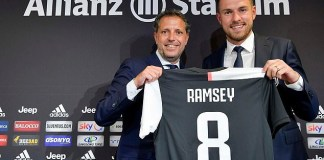 Aaron Ramsey unveiled as a Juventus player