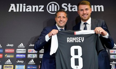 Aaron Ramsey unveiled as a Juventus player and will earn £440,000 a week
