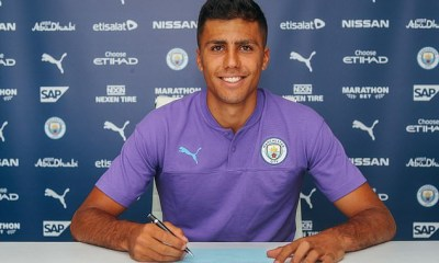 Manchester City confirm record signing of Rodri from Atletico Madrid