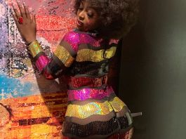Amara La Negra displays her curves in see-through dress (Photos)