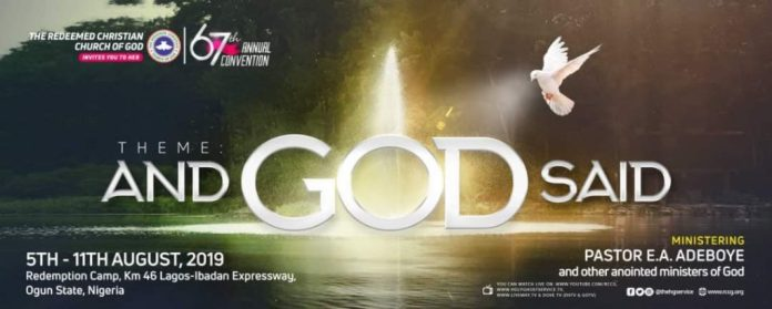 RCCG 67th Annual Convention 2019 Live Broadcast – Day 3