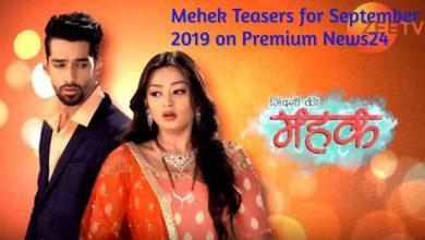 Mehek September 2019 Teasers On Zee World Series