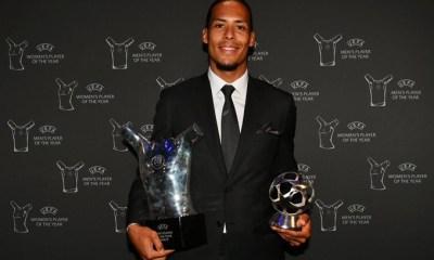 Virgil van Dijk beats Lionel Messi and Cristiano Ronaldo