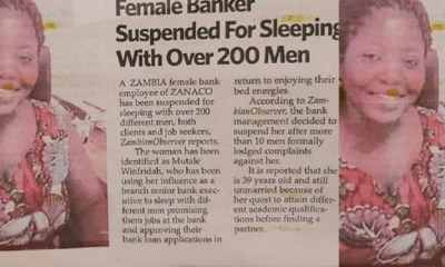 Banker suspended for allegedly sleeping with over 200 men