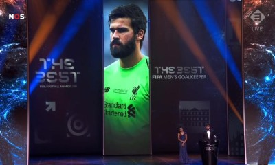 Alisson Becker named Goalkeeper of the Year at 2019 FIFA Football Awards