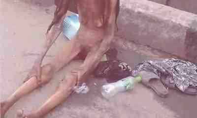 Girl reduces in size after alighting from a car in Ajah