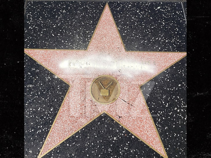 Trump's Hollywood star vandalized with graffiti (video)
