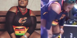 Queen Haizel removes her panties while performing on stage