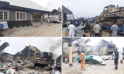 Wike supervises demolition of two hotels for violating lockdown rules