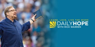 Daily Hope with Rick Warren 19 October 2021