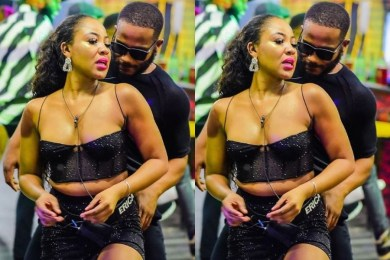 BBNaija: Erica and Kiddwaya spotted kissing hours after she called off their 'relationship' (video)