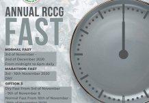 RCCG 26 November 2020 Fasting Prayer Points Day 24