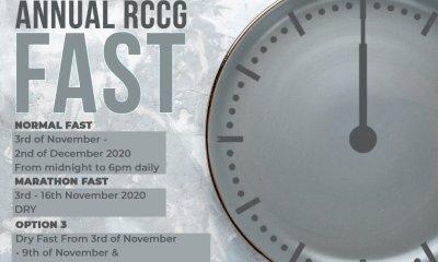 RCCG 30th November 2020 Fasting Prayer Points Day 27